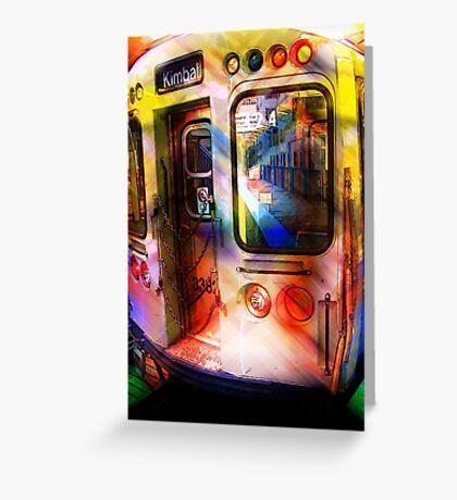 kimball train, brown line, chicago Greeting Card