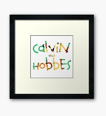 calvin and hobbes font Framed Print