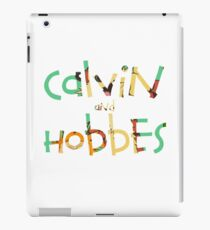 calvin and hobbes font iPad Case/Skin