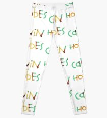 calvin and hobbes font Leggings