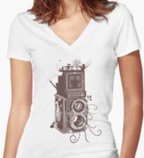 Retro Rolleiflex - Evolution of Photography - Vintage #2 Women's Fitted V-Neck T-Shirt