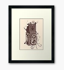 Retro Rolleiflex - Evolution of Photography - Vintage #2 Framed Print
