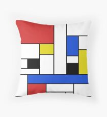 Mondrian Lines Throw Pillow