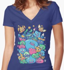 Slime Party!  Fitted V-Neck T-Shirt