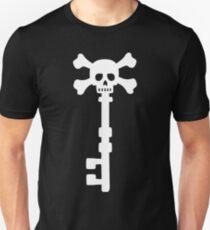 Vintage Skull Key to the Pirate Treasure Chest - White T-Shirt