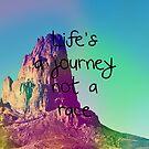 Das Leben ist eine Reise, keine Rasse von kijkopdeklok
