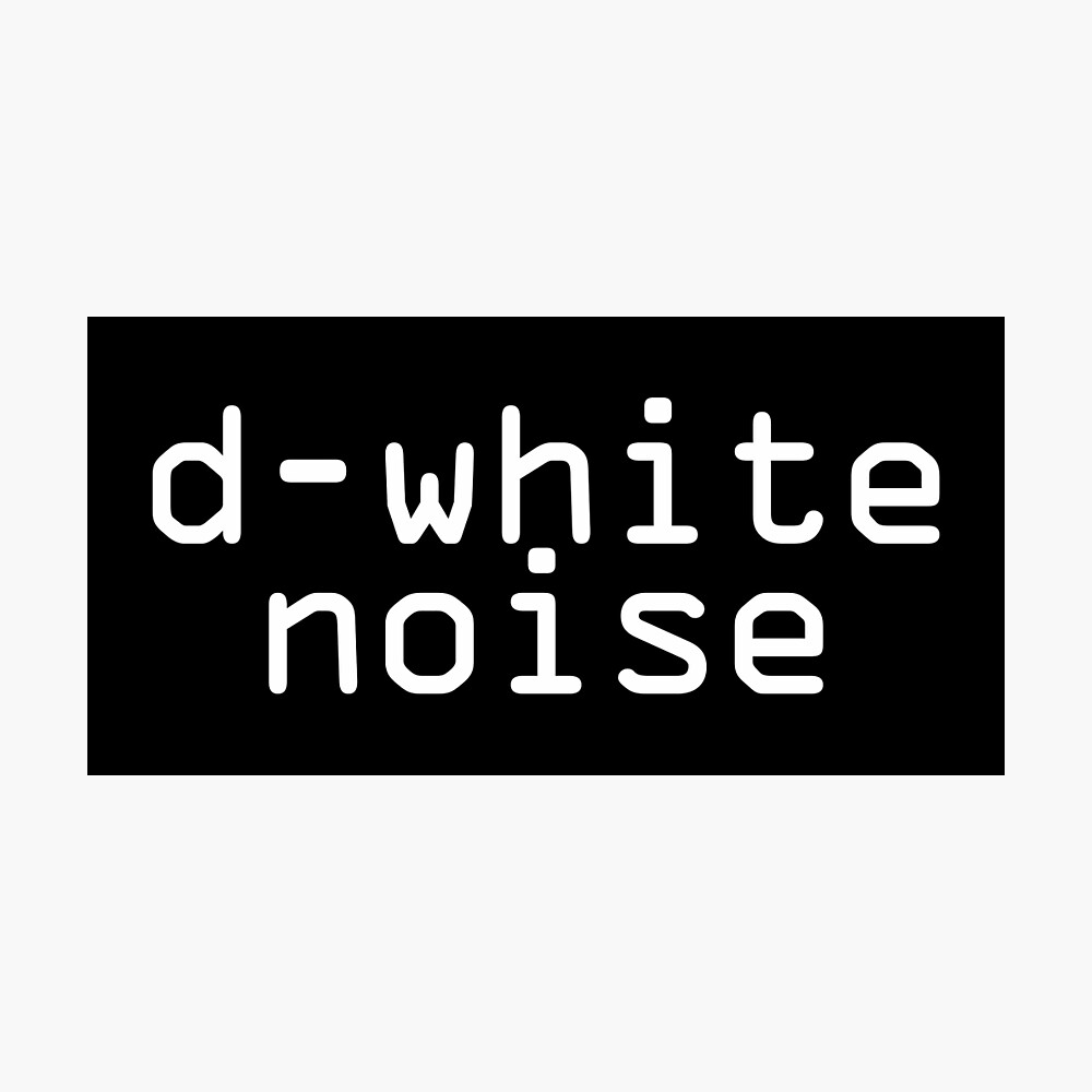 D-White Noise - plain white Photographic Print