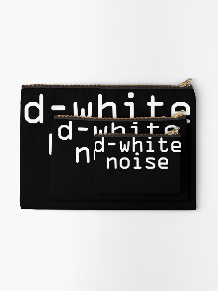 Alternate view of D-White Noise - plain white Zipper Pouch