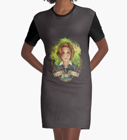 Believe Graphic T-Shirt Dress