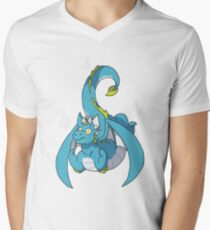 Fiery dragon Mens V-Neck T-Shirt