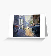 Rue Mazarin, Paris, France Greeting Card