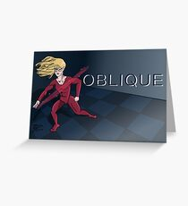 Oblique Greeting Card