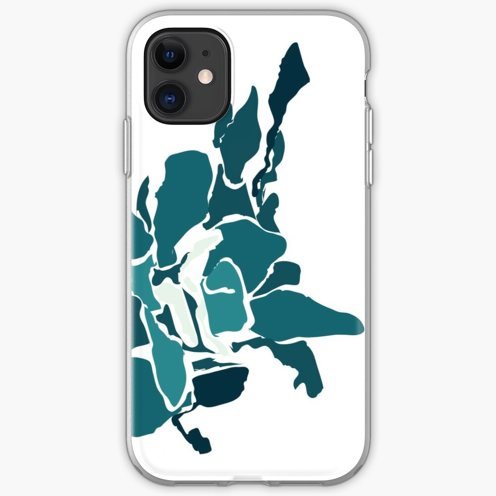 Orchards 2D in Teal iPhone Case & Cover