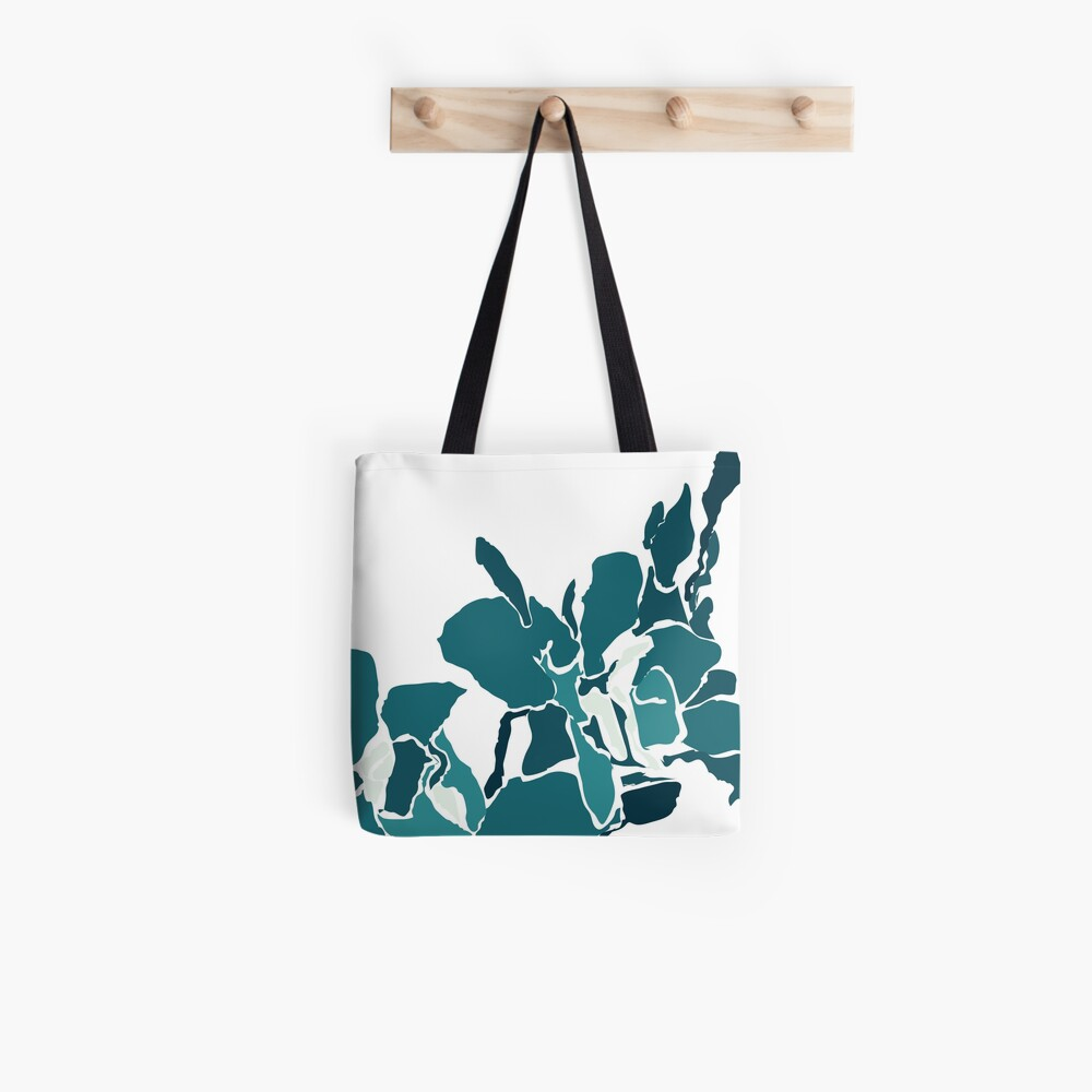 Orchards 2D in Teal Tote Bag