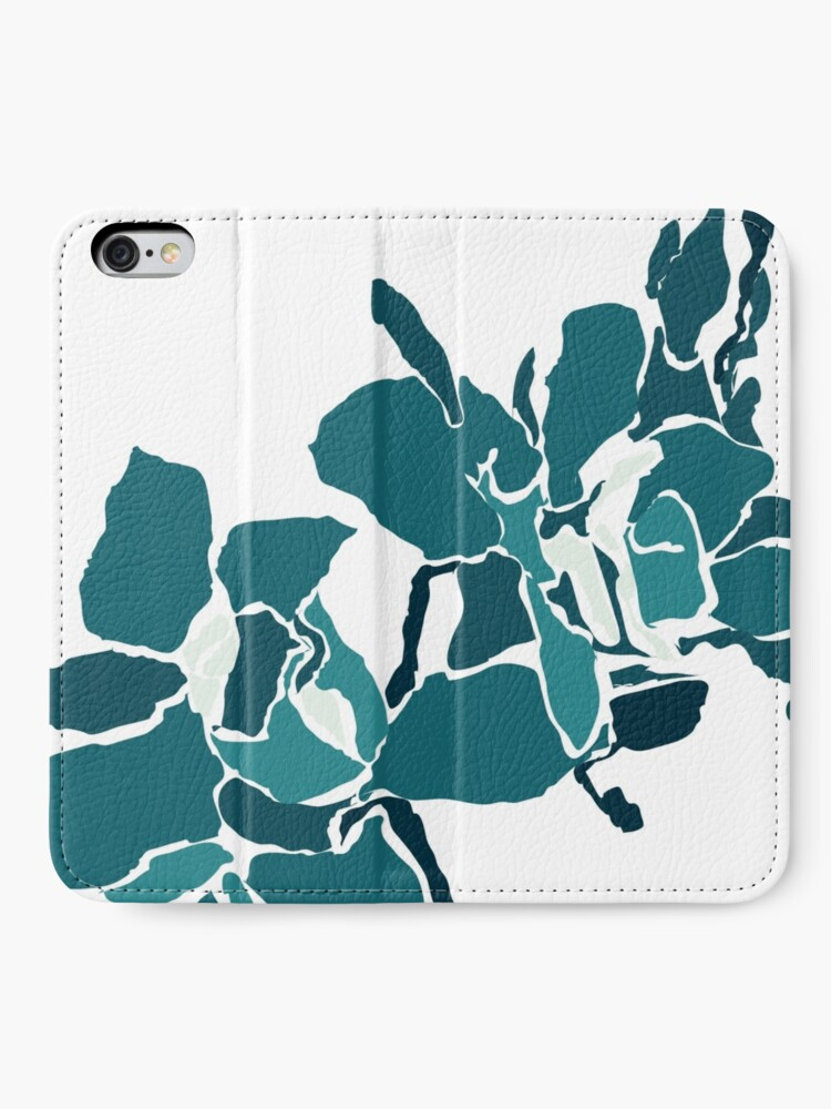 Alternate view of Orchards 2D in Teal iPhone Wallet