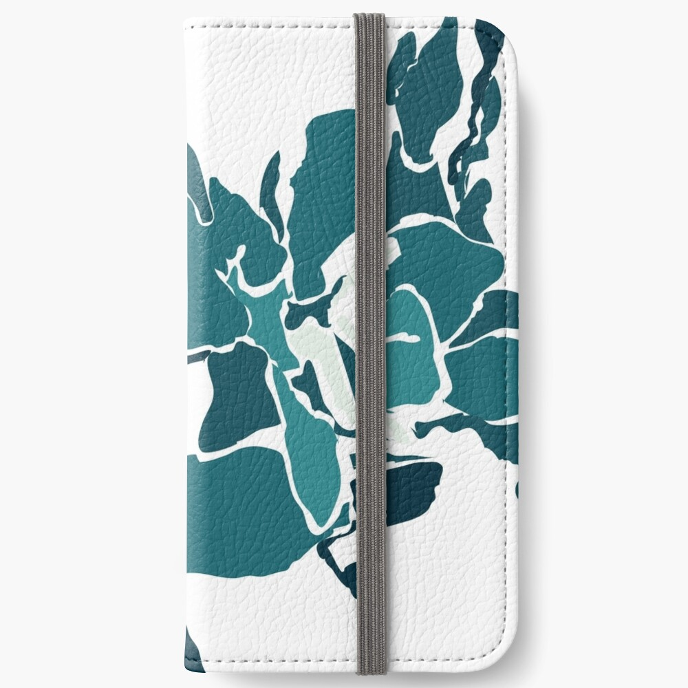Orchards 2D in Teal iPhone Wallet