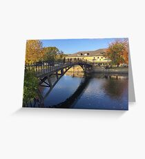 Iron Bridge at Walton Hall, Wakefield, WY, UK Greeting Card