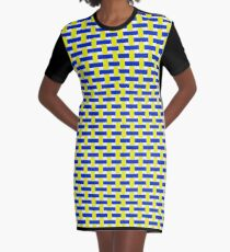 Basket Weave Graphic T-Shirt Dress