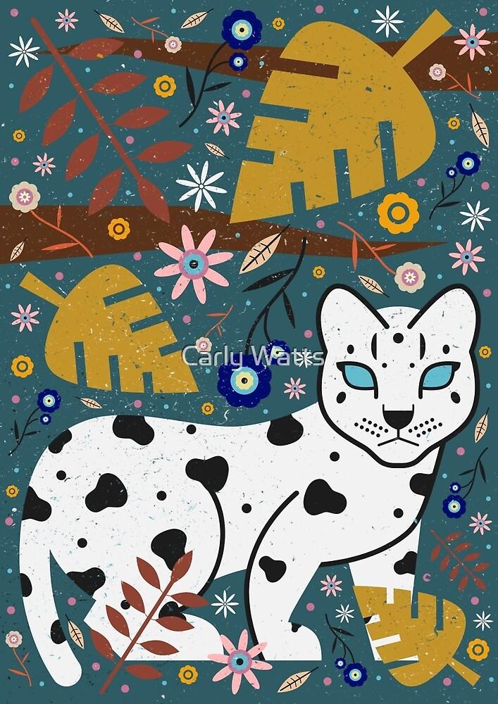 Snow Leopard Cub by Carly Watts