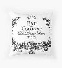 Eau DE Cologne Throw Pillow