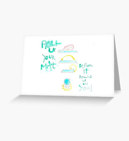 Yoga Mat Greeting Card