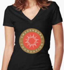 "Swedenborg Foundation ""Crest"" Logo Women's Fitted V-Neck T-Shirt"