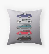 Stack of Volvo 480 Throw Pillow