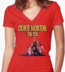 Duke 3D Women's Fitted V-Neck T-Shirt