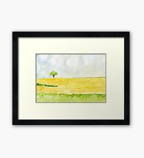Lone Tree // Landscape – Daily Painting #831 Framed Print