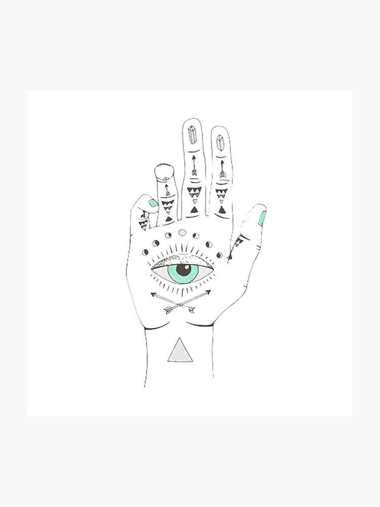 palm reading eye photographic print