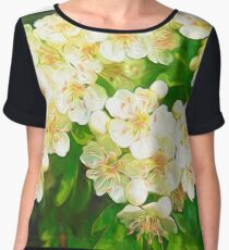 Bridal Wreath ( Abstract Painting ) Women's Chiffon Top