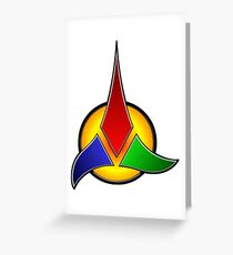 Klingon Empire Greeting Card