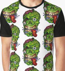 Zombie Skull Brains Graphic T-Shirt