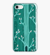 Emerald forest. Seamless pattern with trees iPhone Case/Skin