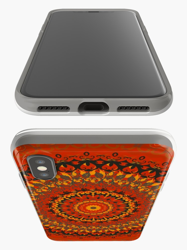 Alternate view of Autumn Leaves Rust Mandala iPhone Cases & Covers