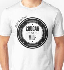 Vintage Retro Cougar Hot Milf T-shirt Slim Fit T-Shirt