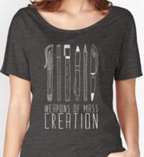 Weapons Of Mass Creation (on grey) Women's Relaxed Fit T-Shirt