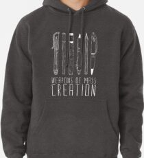 Weapons Of Mass Creation (on grey) Pullover Hoodie