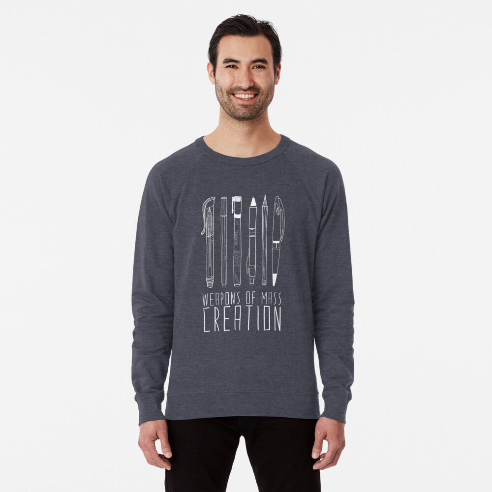 Weapons Of Mass Creation (on grey) Lightweight Sweatshirt