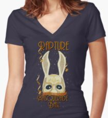 Rapture Masquerade Ball 1959 Women's Fitted V-Neck T-Shirt