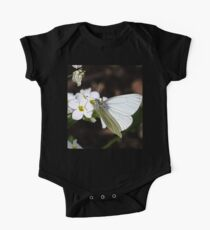 Arctic White Butterfly One Piece - Short Sleeve