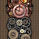 Infernal Steampunk Timepiece #2 Vintage Steampunk phone cases by Steve Crompton