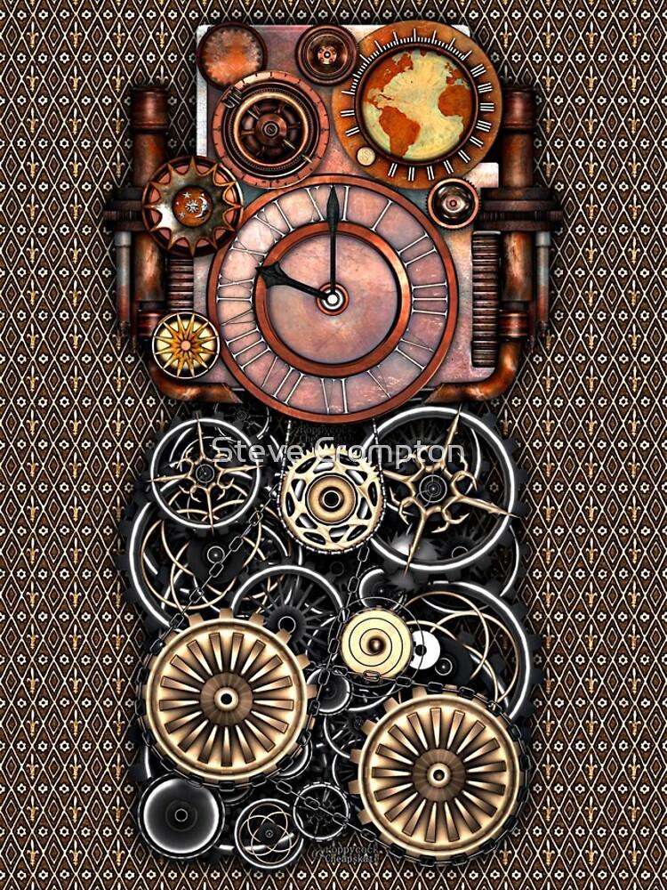 Infernal Steampunk Timepiece #2 Vintage Steampunk phone cases by SC001