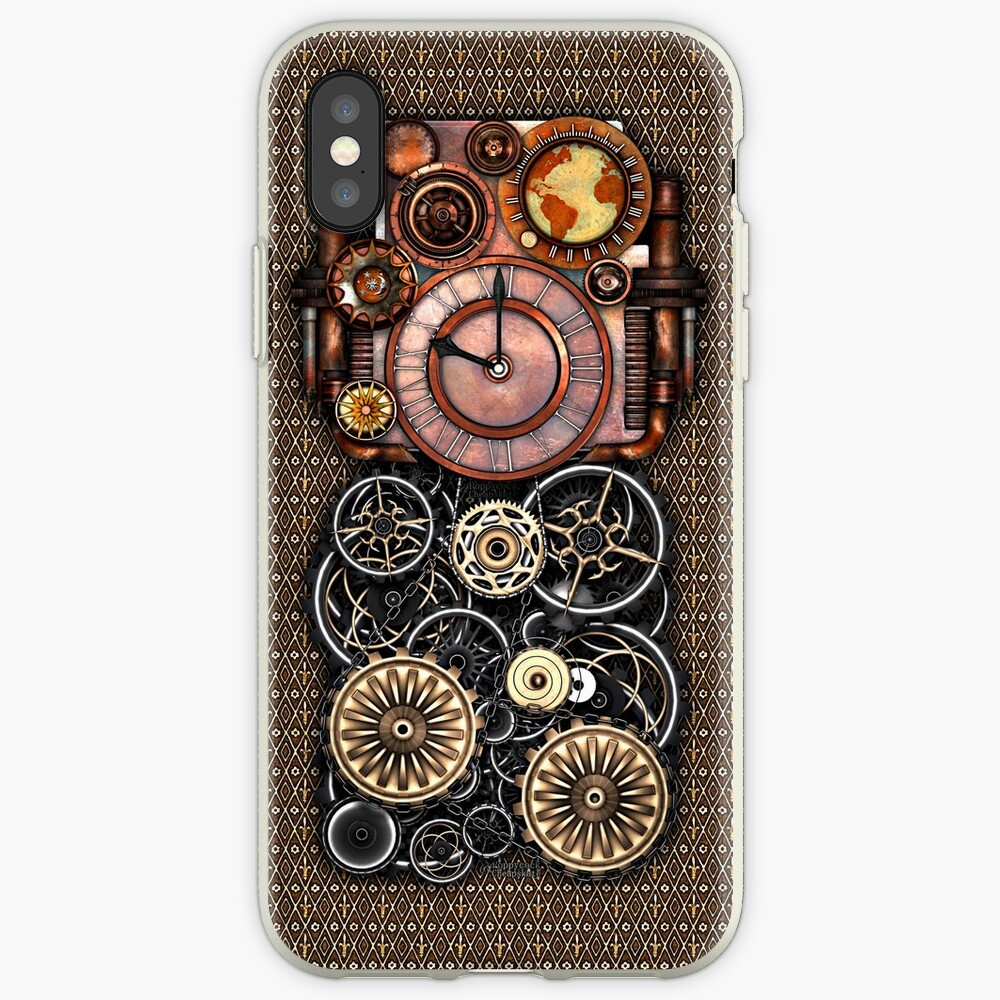 Infernal Steampunk Timepiece #2 Vintage Steampunk phone cases iPhone Case & Cover