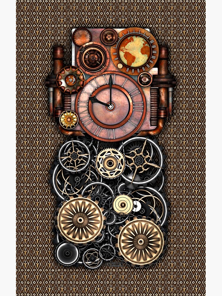 Infernal Steampunk Timepiece #2 Vintage Steampunk phone cases by SC001