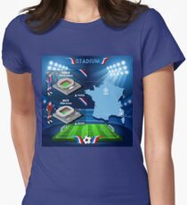 Paris Nice Stadium Infographics T-Shirt