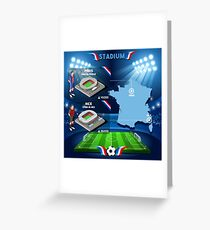 Paris Nice Stadium Infographics Greeting Card