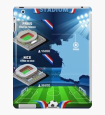 Paris Nice Stadium Infographics iPad Case/Skin