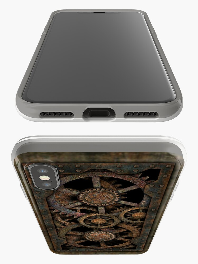 Alternate view of Infernal Steampunk Gears Vintage Steampunk phone cases iPhone Case & Cover