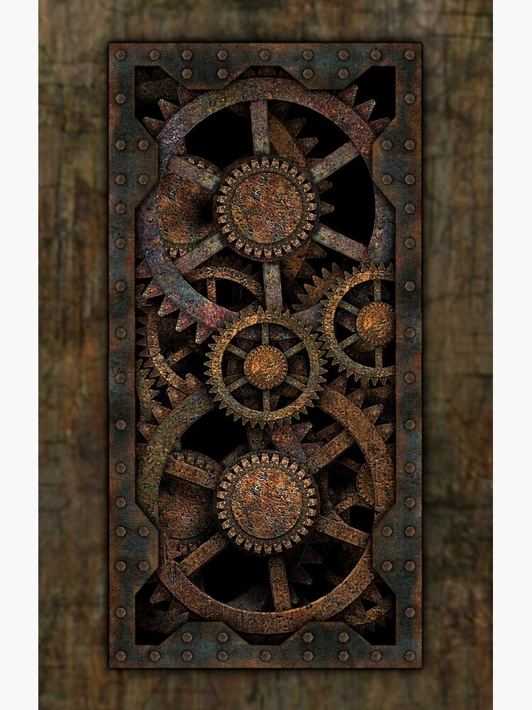 Infernal Steampunk Gears Vintage Steampunk phone cases by SC001